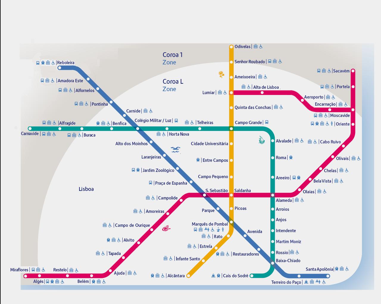 mapa do metro de lisboa Mapa turístico de Lisboa para imprimir   Viajar Lisboa mapa do metro de lisboa