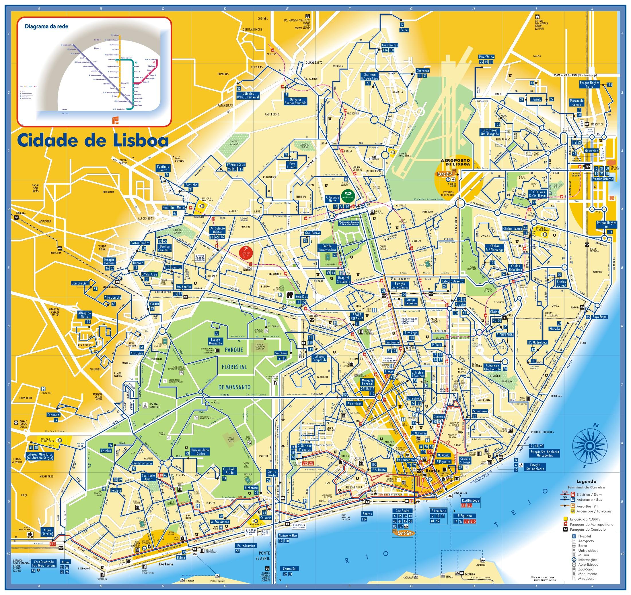 lisboa mapa pontos turisticos Mapa turístico de Lisboa para imprimir   Viajar Lisboa lisboa mapa pontos turisticos